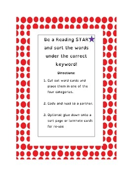 Word Work for Digraph EA