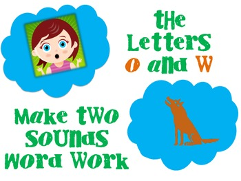 Word Work for the Two Sounds of OW