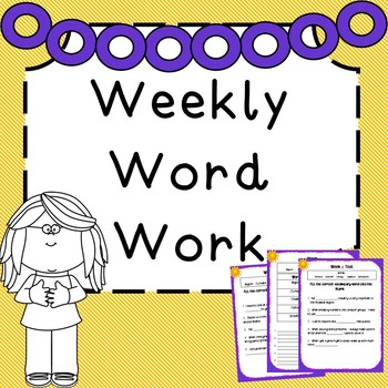 Weekly Word Work