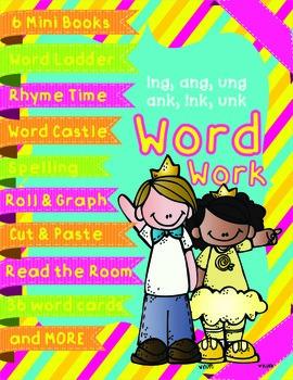 Word Work - ing, ang, ung, ink, ank, unk - Glued Sounds