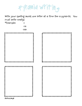 Word Work or Work on Words Papers