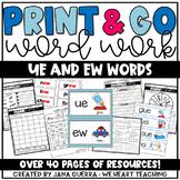 Word Work: ue and ew (/oo/ sound)