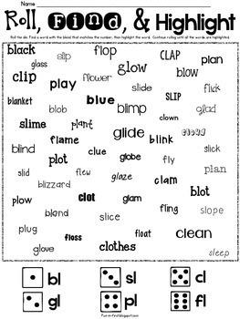 Word Work with Blends {l blends, r blends & s blends}