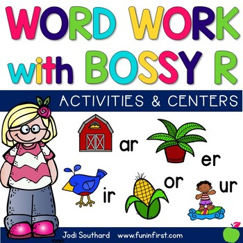 Bossy R Word Work Activities