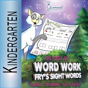 Word Work with Fry's First 25 Sight Words
