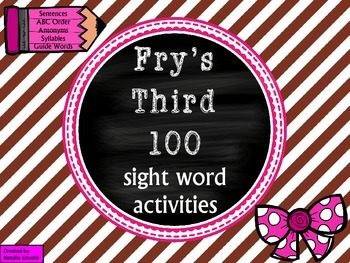 Word Work with Fry's Third 100 List