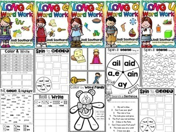 Word Work with Long Vowel Bundle