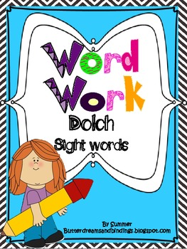 Word Work with Primer Dolch Sight Words