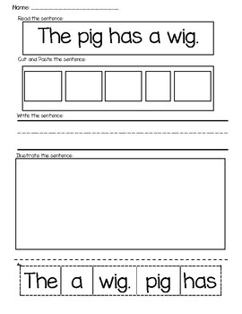 Word Work with Sentences