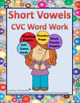 Word Work with Short Vowels CVC - RTI - Beginning and Struggling Readers