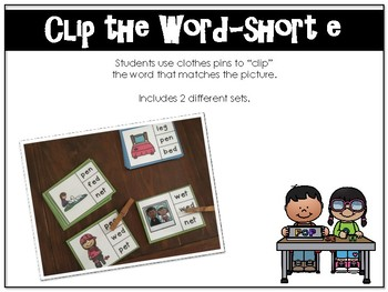 Word Work_Short e Bundle