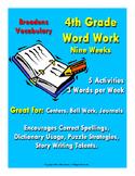 Word Work - 4th Grade - Nine Weeks - ELA