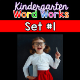 Kindergarten Word Works Daily: Set #1 (Interactive PDF & Printable)