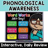 Word Works Set #1: Phonological Awareness Routine (Digital, Google & Printable)