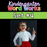 Kindergarten Word Works: Set #4 (Interactive PDF & Printable Version)