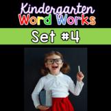 Kindergarten Word Works: Set #4 (Interactive PDF & Printable Version)
