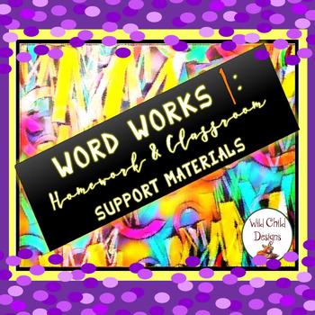 Word Work & Spelling, Part 1: Homework & Classroom Support Materials