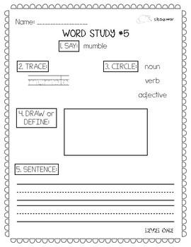 Word Worksheets BUNDLE (Levels 1, 2, and 3)