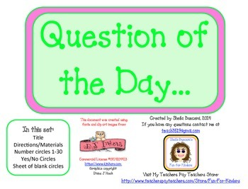 Magnetic Question of the Day Board