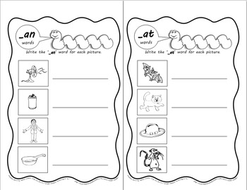 Word Worms: Word Sorts for Short Vowel Word Families- Set 1: -an, -ap, -at, -ack