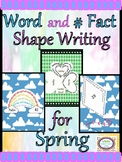 Word and Number Fact Shape Writing for Spring