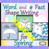 Word and Number Fact Shape Writing for Spring FREEBIE