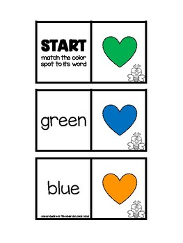 Word and Number Steps FREEBIE - Letters, Numbers, and Colors Edition