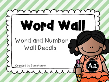 Word and Number Wall - Black and White