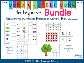 Word and Number Work for Beginners Bundle
