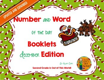 December Number Sense and Vocabulary Builders Morning Work