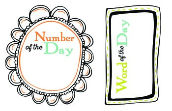 Word and Number of the Day Set