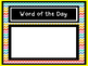 Word and Number of the Day display cards