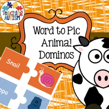 Animal Dominos Word to Picture Game