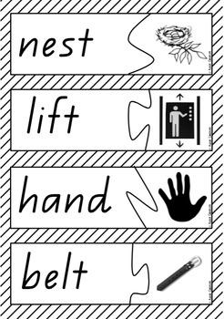 Word and Picture Match - Digraphs & Blends / CCVC & CVCC & CCVCC
