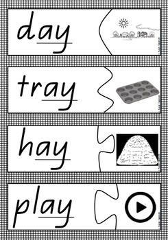 Word and Picture Match - Long Vowels