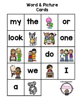 Word and Picture Sort