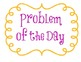Word and Problem of the Day