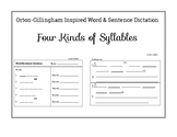 Word and Sentence Dictation Four Kinds of Syllables - Orto