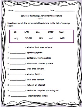 'Word' and Technology Study Guides and Quizzes