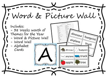 Word/Picture Wall with Weekly Themes
