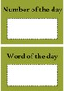 Word and number of the day