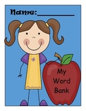 Word bank to support writing, spelling, alphabetical order