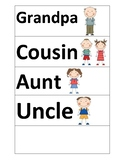 Word cards- Family