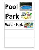 Word cards- Places to have fun