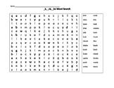 Word endings _ck, _k ,and _ke Word Search