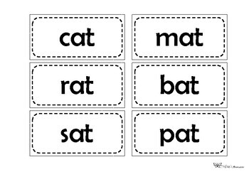 Word families activity - fit for a pocket chart