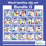 Word families clip art bundle O
