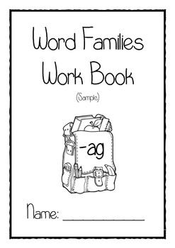 Word families workbook sample