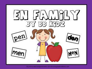 Word family Activities for the EN family