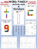 Word family activity mats and coordinating worksheets - ov